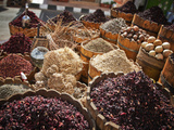 Display of Spices and Herbs in Market, Sharm El Sheikh, Egypt, North Africa, Africa Photographic Print by Adina Tovy