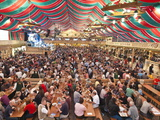 Beer Hall at the Stuttgart Beer Festival, Cannstatter Wasen, Stuttgart, Baden-Wurttemberg, Germany, Fotografie-Druck von Michael DeFreitas