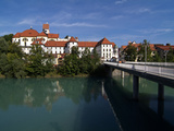 Fussen, River Lech and Castle, Allgau, Bavaria, Germany, Europe Photographic Print by Hans-Peter Merten