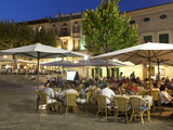 Restaurants in the Plaza Mayor, Pollenca (Pollensa), Mallorca (Majorca), Balearic Islands, Spain, M Photographie par Stuart Black