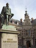 Statue of Count (Graaf) Jan Van Nassau, 1536 to 1606, at the Domplein, Utrecht, Utrecht Province, N Photographic Print by Stuart Forster