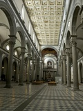 Nave of Basilica of San Lorenzo, Florence, Tuscany, Italy, Europe Photographic Print by Peter Barritt
