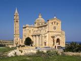 Cathedral Ta Pinu Near Gharb, Gozo, Malta, Mediterranean, Europe Fotografisk tryk af Hans-Peter Merten