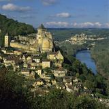 Chateau De Castelnaud and View over Dordogne River and Chateaux of Beynac, Castelnaud La Chapelle,  Stampa fotografica di Stuart Black