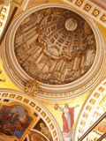 Interior of Dome, Gozo Cathedral, Rabat (Victoria), Gozo, Malta, Europe Photographic Print by Nick Servian