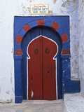 Doorway to Turkish Baths in the Medina, Hammamet, Cap Bon, Tunisia, North Africa, Africa Fotografisk tryk af Stuart Black