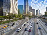 The 110 Harbour Freeway and Downtown Los Angeles Skyline, California, United States of America, Nor Photographic Print by Gavin Hellier
