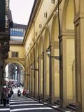 The Vasari Corridor (Corridoio Vasariano), UNESCO World Heritage Site, Florence, Tuscany, Italy, Eu Photographic Print by Nico Tondini
