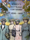 Women's Suffrage Tile Mural Outside the Auckland Art Gallery, Auckland, North Island, New Zealand,  Photographic Print by Richard Cummins