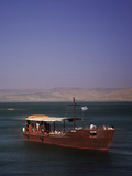 Tourist Boat on Lake Tiberias, the Sea of Galilee, North Israel, Israel, Middle East Photographic Print by Adina Tovy