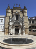 The Santa Cruz Church, with Manueline Facade, on the Praca 8 De Maio Square, Coimbra, Beira Litoral Photographic Print by Stuart Forster