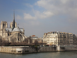 Ile De La Cite and Notre Dame Cathedral, Paris, France, Europe Photographic Print by Martin Child