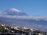 Orotava Valley and Pico Del Teide, Tenerife, Canary Islands, Spain, Europe Photographic Print by Hans-Peter Merten
