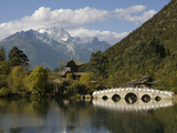 Black Dragon Pool Park and Jade Dragon Snow Mountain, Lijiang, Yunnan, China, Asia Photographic Print by Rolf Richardson