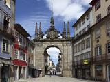 The Arco Da Porta Nova, Baroque Style City Gate, and Rua Diogo De Sousa, Braga, Minho, Portugal, Eu Photographic Print by Stuart Forster