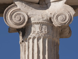 Detail of Pillar on the Erechtheion at the Acropolis, UNESCO World Heritage Site, Athens, Greece, E Photographic Print by Martin Child
