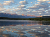 Early Morning Light at Pyramid Lake, Jasper National Park, UNESCO World Heritage Site, British Colu Photographic Print by Martin Child