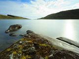Scenery Along the Shoreline of Sorvagsvatn (Leitisvatn Lake), Leitisvatn, Vagar Island, Faroe Islan Photographic Print by Kimberley Coole