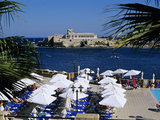 View over Bay and Pool Area of Corinthia San Gorg Hotel, St. George`S Bay, Malta, Mediterranean, Eu Photographic Print by Stuart Black