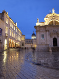 St. Blaise Church and Cathedral at Night, Old Town, UNESCO World Heritage Site, Dubrovnik, Croatia, Photographic Print by Martin Child