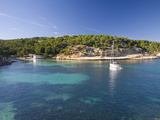 View across the Turquoise Waters of Cala Portals Vells Near Magaluf, Mallorca, Balearic Islands, Sp Photographic Print by Ruth Tomlinson