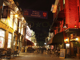 Busy Bars and Restaurants at Night on Halstraat in Breda, Noord-Brabant, Netherlands, Europe Photographic Print by Stuart Forster