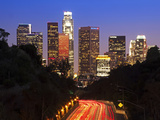 Pasadena Freeway (Ca Highway 110) Leading to Downtown Los Angeles, California, United States of Ame Photographie par Gavin Hellier