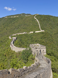 The Great Wall of China, UNESCO World Heritage Site, Mutianyu, Beijing District, China, Asia Fotografisk tryk af Neale Clark