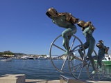 Sisyphus Sculpture, by Anna Chromy, Seafront, St. Tropez, Var, Provence, Cote D'Azur, France, Medit Photographic Print by Peter Barritt