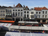 Stalls Set for Market Day at the Grote Markt (Big Market), Central Square in Breda, Noord-Brabant,  Photographic Print by Stuart Forster