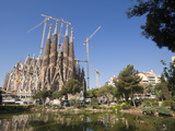 La Sagrada Familia by Antoni Gaudi, UNESCO World Heritage Site, Barcelona, Catalonia, Spain, Europe Photographic Print by Sergio Pitamitz