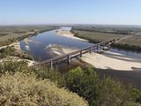 The Dom Luis I Bridge across the River Tagus (Rio Tejo) at Santarem, Ribatejo, Portugal, Europe Photographic Print by Stuart Forster