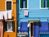 Colourfully Painted Houses Situated on Canal Banks on the Island of Burano, Located Near Venice, Ve Photographic Print by Kimberley Coole