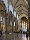 Nave of Church of Santa Maria Novella, Florence, UNESCO World Heritage Site, Tuscany, Italy, Europe Photographic Print by Peter Barritt
