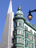 Trans America Building and Victorian Architecture, San Francisco, California, United States of Amer Photographic Print by Gavin Hellier