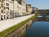 Ponte Vecchio and Lungarno Acciaiuoli and the River Arno, Florence, UNESCO World Heritage Site, Tus Photographic Print by Nico Tondini