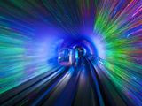 The Bund Sightseeing Tunnel under the Hangpu River, Shanghai, China, Asia Photographic Print by Neale Clark