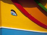Close-Up of Eye of Osiris on Fishing Boat, Marsaxlokk, Malta, Mediterranean, Europe Fotografisk tryk af Nick Servian