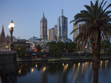 St. Paul's Cathedral, City Centre and Yarra River at Dusk, Melbourne, Victoria, Australia, Pacific Photographic Print by Nick Servian