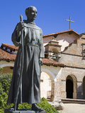 Statue of Father Junipero Serra Outside Mission San Antonio, Monterey County, California, United St Photographic Print by Richard Cummins