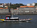A Wooden Barcos Rabelos Boat, Once Used of Delivering Wine Casks, Cruises on the River Douro at Por Photographic Print by Stuart Forster