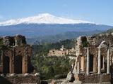 The Greek Amphitheatre and Mount Etna, Taormina, Sicily, Italy, Europe Photographic Print by Stuart Black