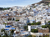View of the City, Chefchaouen (Chaouen), Tangeri-Tetouan Region, Rif Mountains, Morocco, North Afri Photographic Print by Nico Tondini