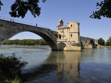 Pont Saint-Benezet and the River Rhone, Avignon, UNESCO World Heritage Site, Provence, France, Euro Photographic Print by Peter Richardson