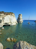 Kleftiko Bay, White Cliffs of Kleftiko, Milos, Cyclades Islands, Greek Islands, Aegean Sea, Greece, Photographic Print by  Tuul