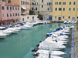 Royal Canal in the Port of Livorno, Tuscany, Italy, Europe Photographic Print by Richard Cummins