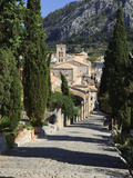 Calvary Steps with View over Old Town, Pollenca (Pollensa), Mallorca (Majorca), Balearic Islands, S Photographic Print by Stuart Black