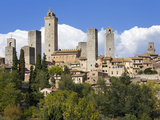 Towers of San Gimignano, UNESCO World Heritage Site, Tuscany, Italy, Europe Photographic Print by Richard Cummins