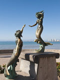 Triton and Nereida Sculpture on the Malecon, Puerto Vallarta, Jalisco, Mexico, North America Photographic Print by Michael DeFreitas