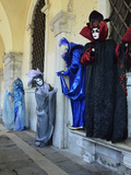 Masked Figures in Costume at the 2012 Carnival, Venice, Veneto, Italy, Europe Photographic Print by Jochen Schlenker